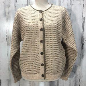 Woolrich Vintage 100% Wool Cardigan Sweater Medium